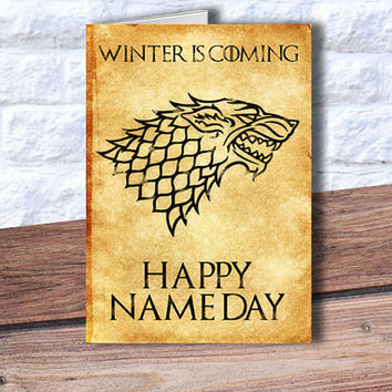 game of thrones themed birthday card ; x354-q80