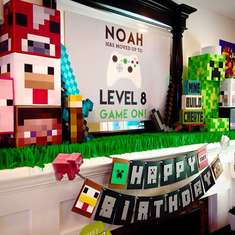 game themed birthday party ; beautiful-looking-game-themed-party-ideas-minecraft-for-a-boy-birthday-catch-my