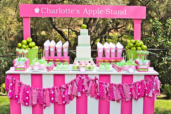 girl themed birthday party ideas ; Apple-of-my-eye-themed-birthday-party-via-Karas-Party-Ideas-karaspartyideas