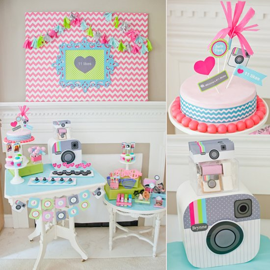 girl themed birthday party ideas ; Tween-Tastic-Instagram-Themed-Birthday-Party