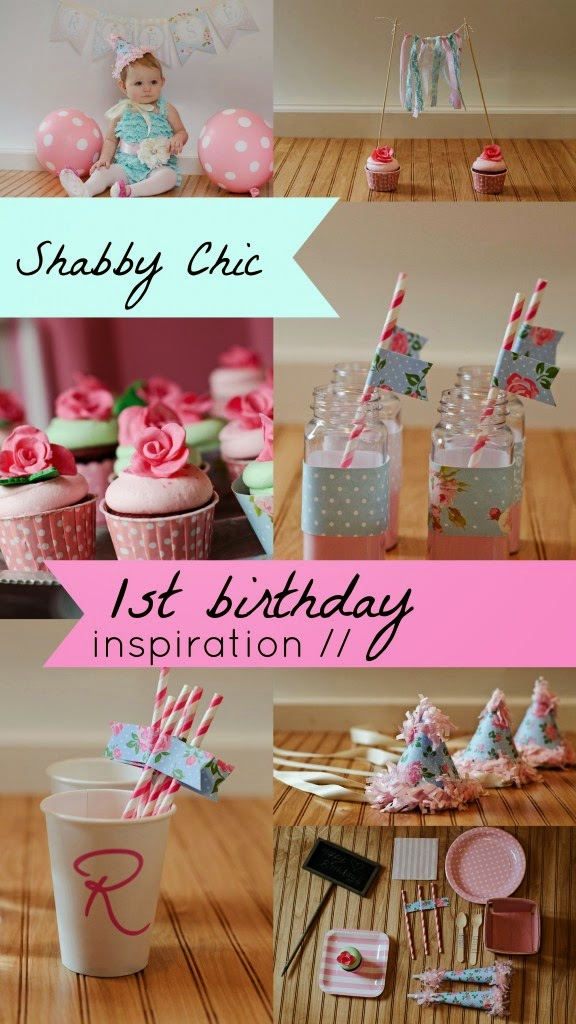girl themed birthday party ideas ; a-very-shabby-chic-first-birthday-party-576x1024