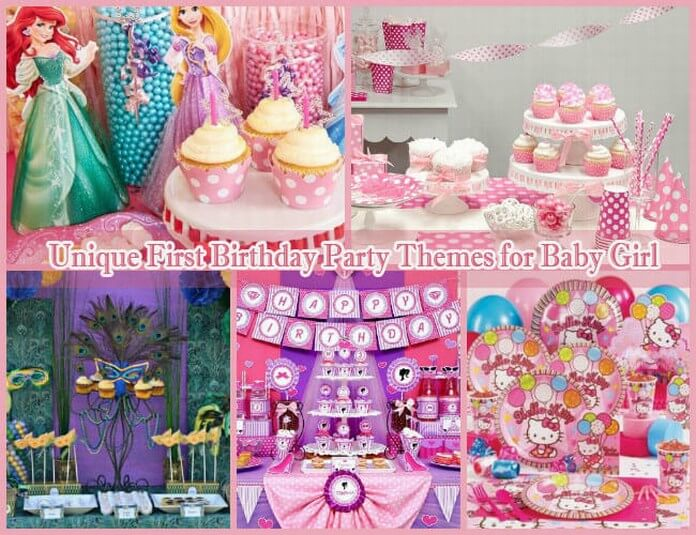 girls bday party theme ; baby-girl-first-birthday-party-themes