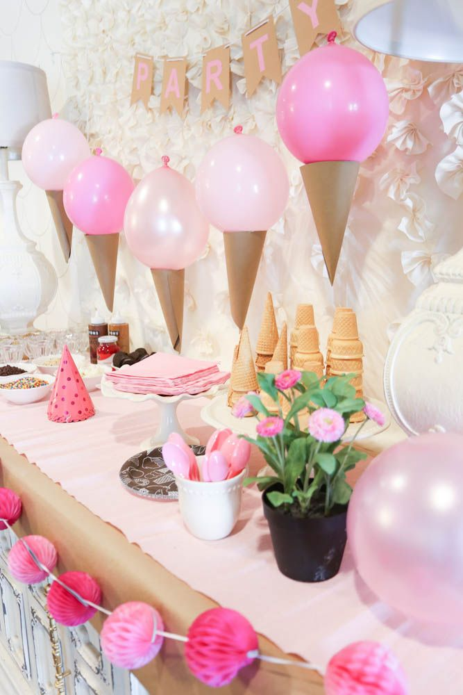 good birthday party themes ; a8a9a33ee7b5b8e0b7144af123bd54c1--ice-cream-balloons-cute-desserts