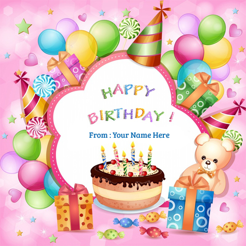 greeting card birthday with name ; Birthday-Children-wishes-Name-Greeting-Card