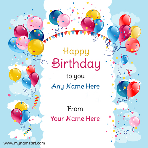 greeting card birthday with name ; balloons-birthday-wishes-picture