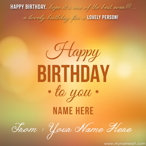 greeting card birthday with name ; birthday-message-with-simple-text