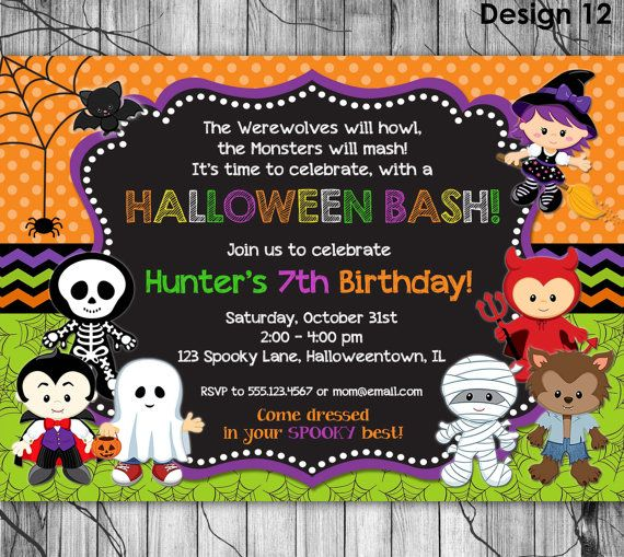 halloween birthday invitations with photo ; 683ed49b507dfd9a374df2b64d8b4d12