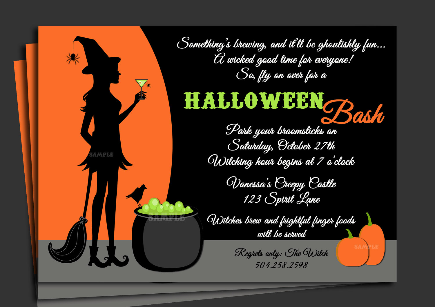 halloween birthday invitations with photo ; Halloween-Birthday-Invitations-Wording