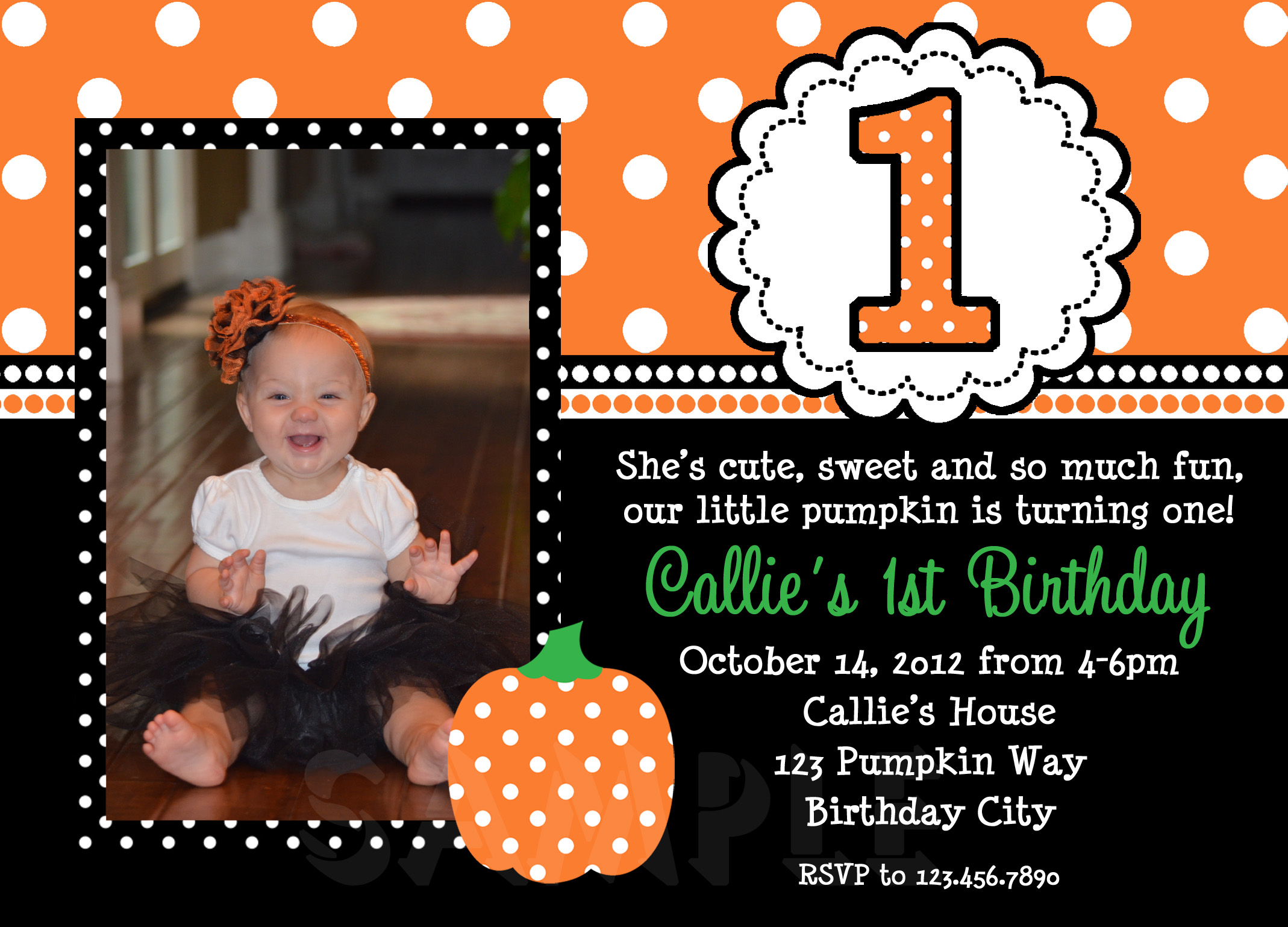 halloween first birthday photo invitations ; halloween-1st-birthday-party-invitations-is-amplifying-your-ideas-of-astonishing-Party-invitaions-to-the-top-1
