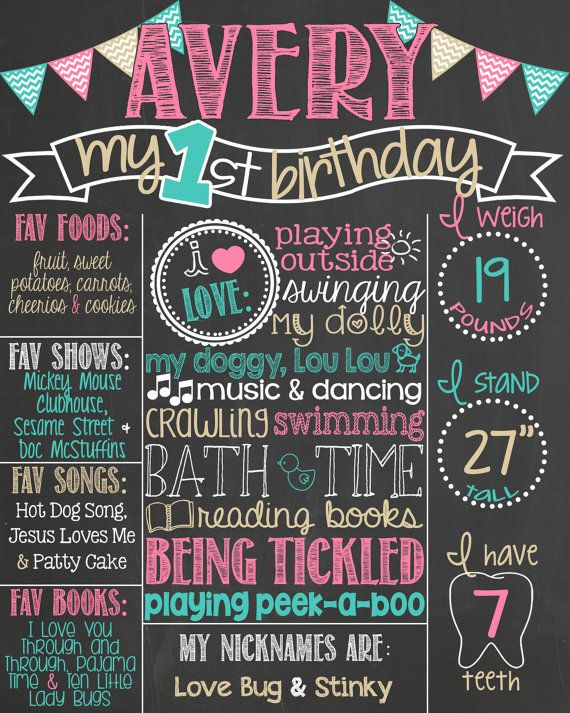handmade birthday posters ; 1%2520year%2520old%2520birthday%2520poster%2520;%2520chalkboard-poster-board-25-unique-diy-birthday-board-ideas-on-pinterest-family