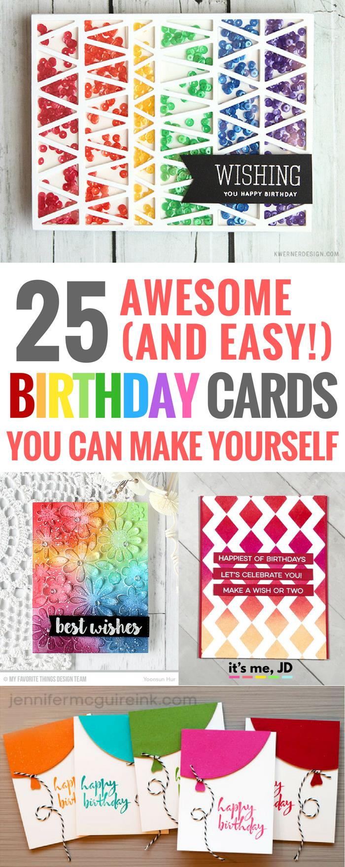 handmade birthday posters ; 25-Cute-Easy-DIY-Birthday-Cards-You-can-Make-Yourself