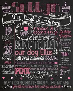 handmade birthday posters ; aa8dda4ddce1ac367c75d76c98d74011--october-birthday-first-birthday-parties