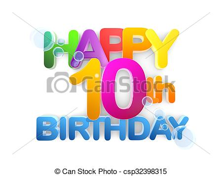 happy 10th birthday clipart ; happy-10th-birthday-title-light-clipart_csp32398315
