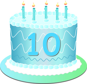 happy 10th birthday clipart ; tenth_birthday_cake_0515-1101-0714-1538_SMU