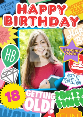 happy 18th birthday stickers ; 51496_front