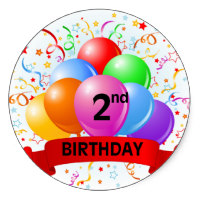 happy 2nd birthday banner ; 2nd_birthday_banner_balloons_classic_round_sticker-r95efb688105c4c199ce0bd014c5d1c94_v9wth_8byvr_200