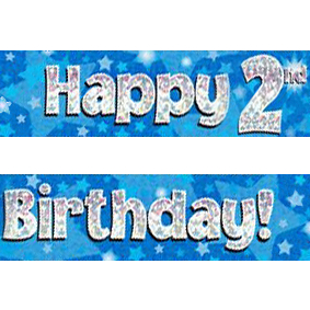 happy 2nd birthday banner ; blue-age-2-banner-big