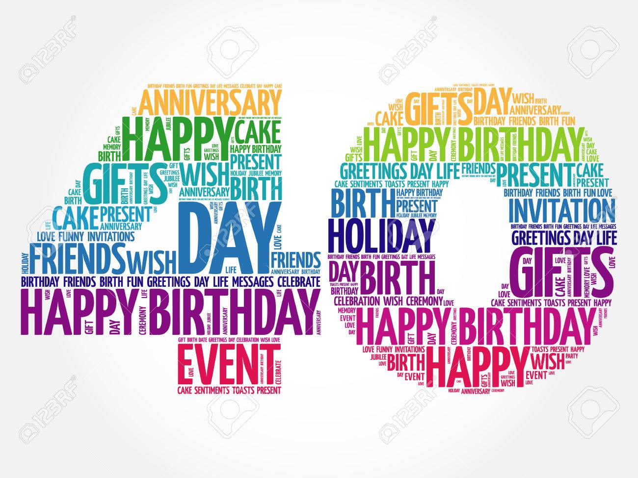 happy 40th birthday clipart free ; 62907252-happy-40th-birthday-word-cloud-collage-concept