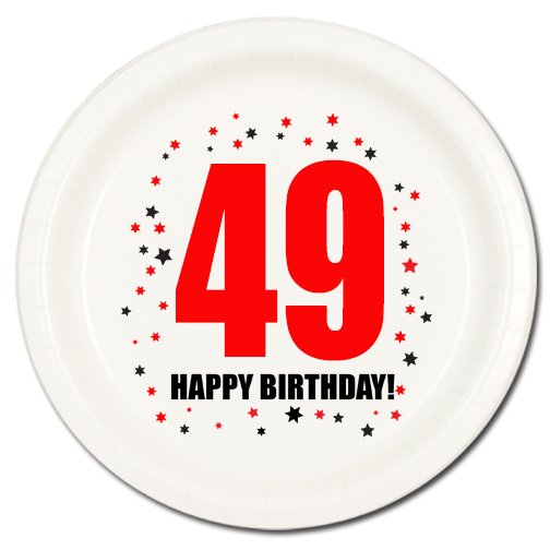 happy 49th birthday images ; 49TH-BIRTHDAY-DESSERT-PLATE