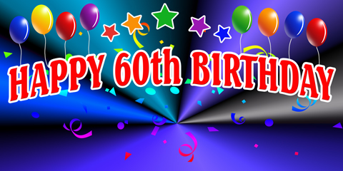 happy 60th birthday poster ; H60B-SIGN__83834_zoom