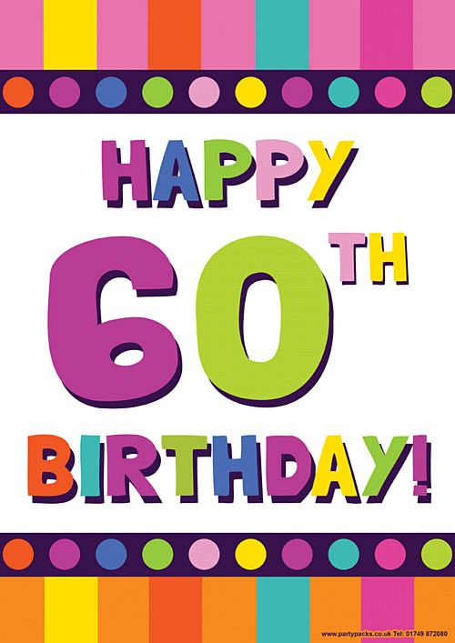 happy 60th birthday poster ; product_91407_1_orig