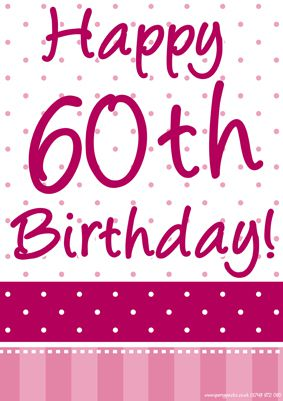 happy 60th birthday poster ; product_96312_1_orig