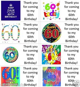happy 60th birthday stickers ; s-l300