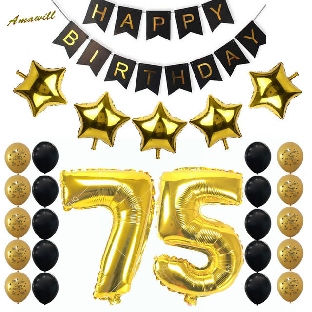 happy 75th birthday banner ; Amawill-75th-Birthday-Party-Decoration-Kit-Happy-Birthday-Banner-32inch-Gold-Balloon-75th-Years-Old-Party