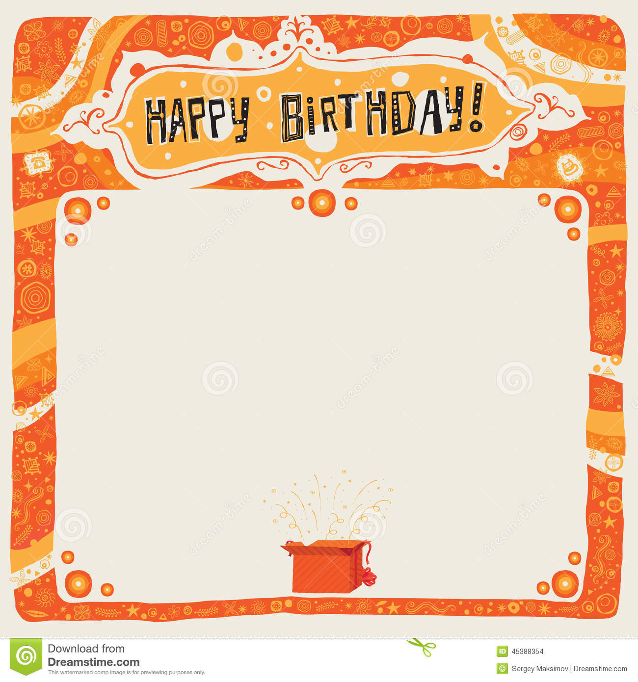 happy b day poster ; happy-birthday-postcard-poster-background-ornament-invitation-vector-illustration-45388354