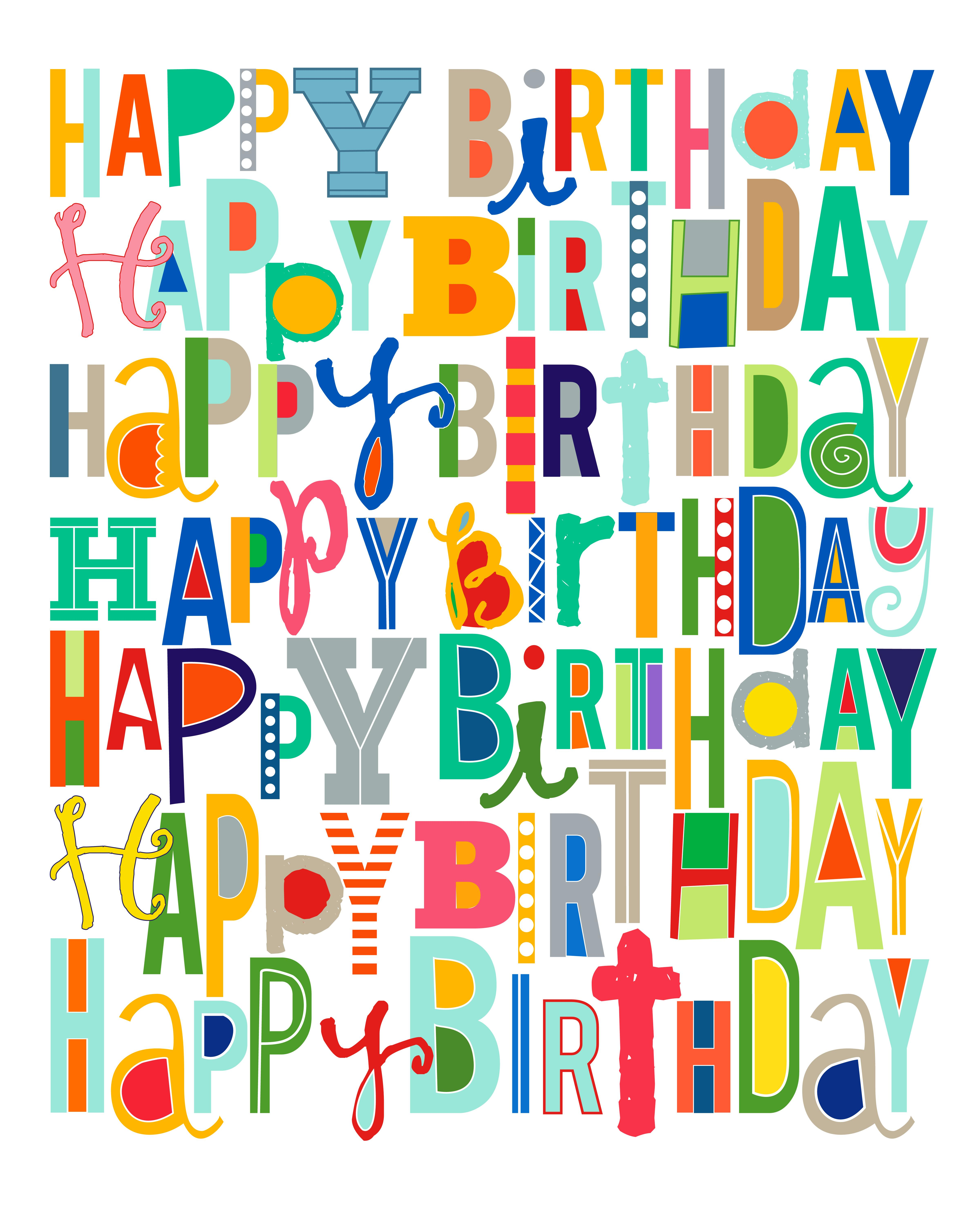 happy b day poster ; happy-birthday-sign