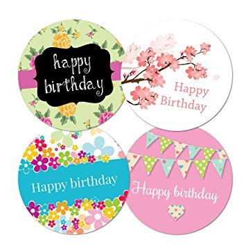 happy bday stickers ; 71KC28d0XpL