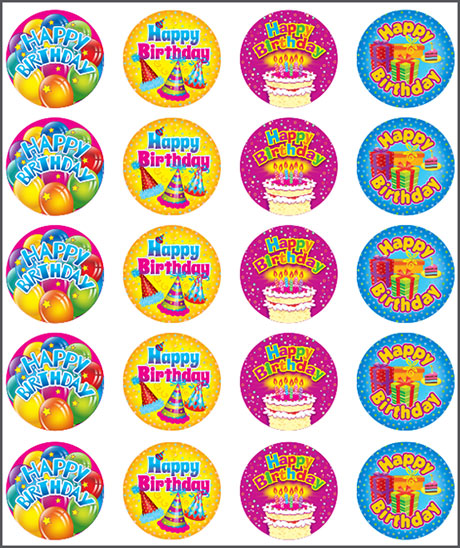 happy bday stickers ; 9232-Happy-birthday