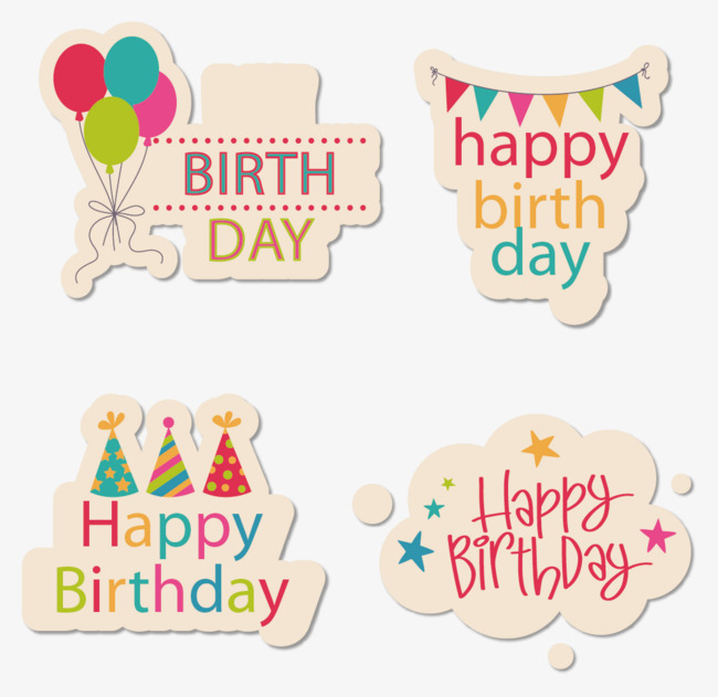 happy bday stickers ; a00c344c0cc64643443477917e49e264