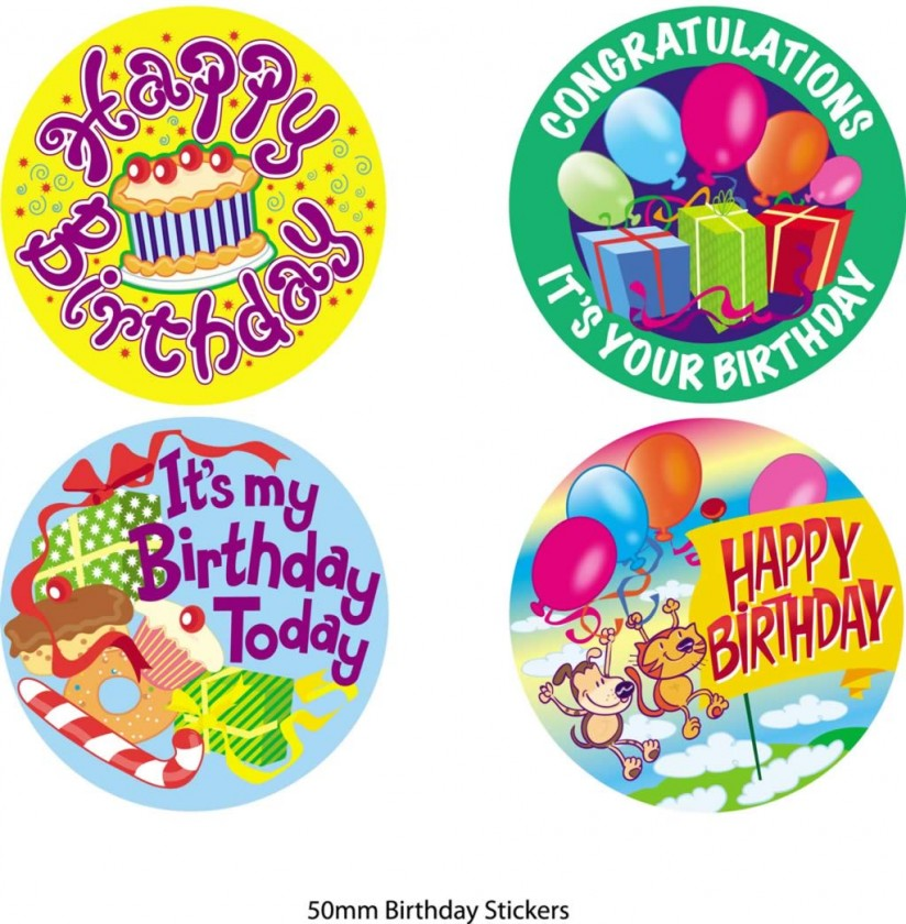 happy bday stickers ; be8eb4a19dbbd753194586b0ac30877c
