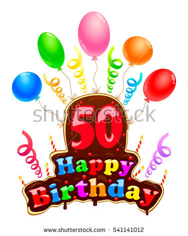 happy birthday 50 ; stock-vector-happy-birthday-sign-in-the-form-of-a-cake-banner-celebration-fifty-birthday-with-balloons-and-541141012