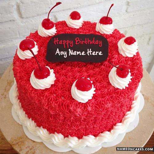 happy birthday any ; cool-cherry-decorated-happy-birthday-cake-for-friends8a22