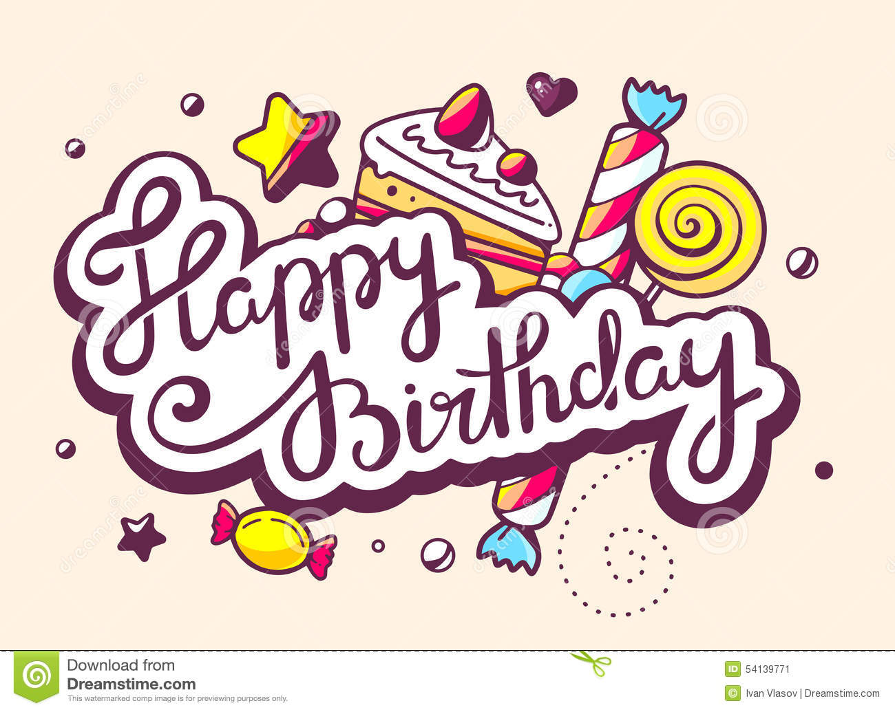 happy birthday art images ; illustration-calligraphy-text-happy-birthday-swee-sweets-light-background-hand-draw-line-art-design-web-site-54139771