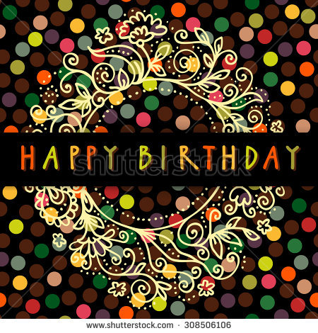happy birthday art images ; stock-vector-happy-birthday-vector-doodle-greeting-card-in-retro-style-with-an-artistic-hand-drawn-floral-frame-308506106