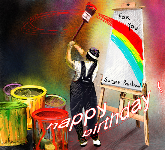 happy birthday artist images ; 301008