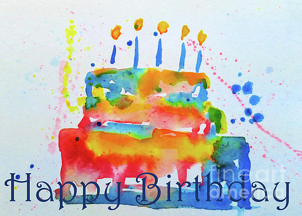 happy birthday artist images ; happy-birthday-blue-cake-claire-bull