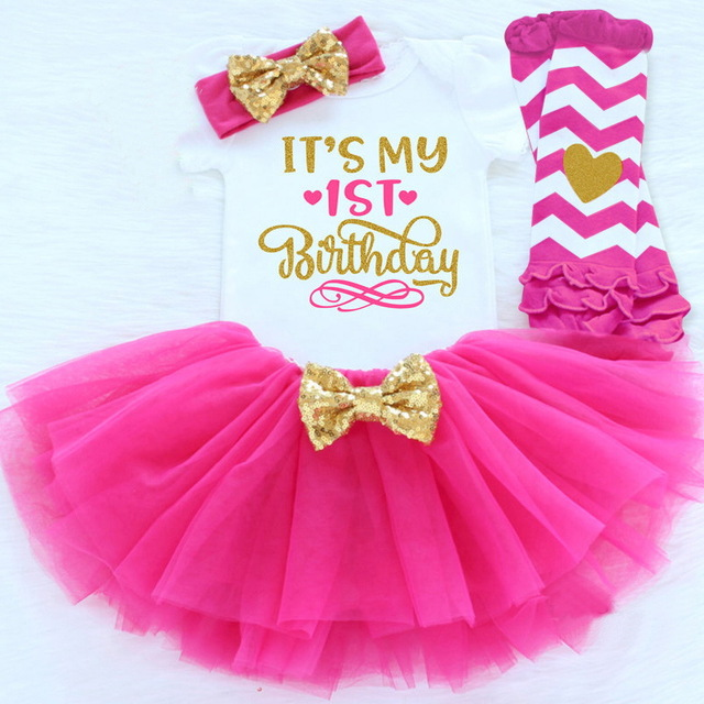 happy birthday baby girl ; Baby-Girls-Clothing-Sets-1st-Happy-Birthday-Party-Wear-Baby-1-Year-Outfits-Sets-Toddler-Kids
