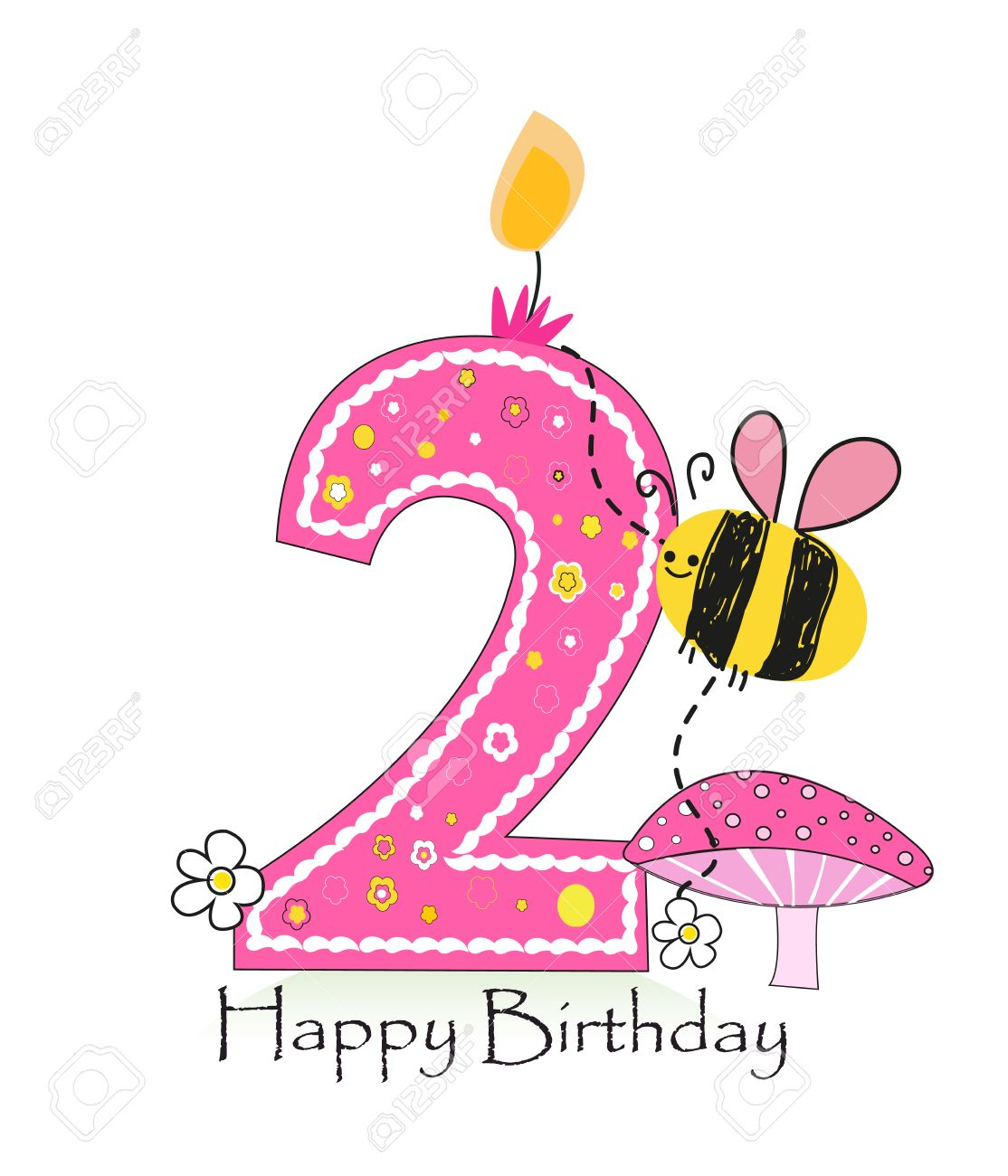 happy birthday baby girl images ; 55679495-happy-second-birthday-candle-baby-girl-greeting-card-with-bee-and-daisy-vector-background
