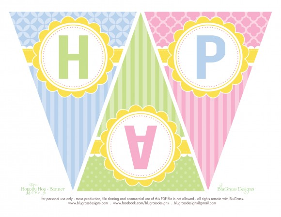 happy birthday banner free printable pdf ; Easter-Party-Package-12-e1363300864270-580x448