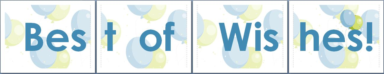 happy birthday banner template for word ; best-wishes-banner