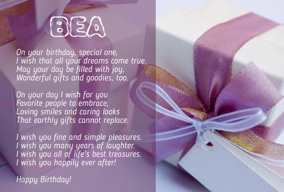 happy birthday bea ; 7083