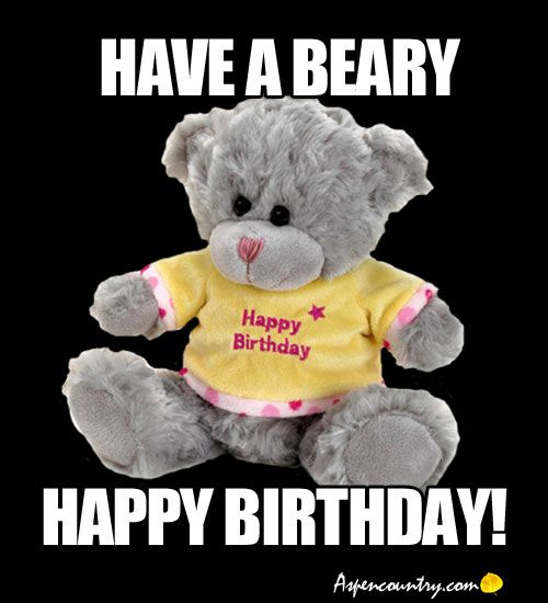 happy birthday bear meme ; 525e5d230b74d09f142a117f1ef26172