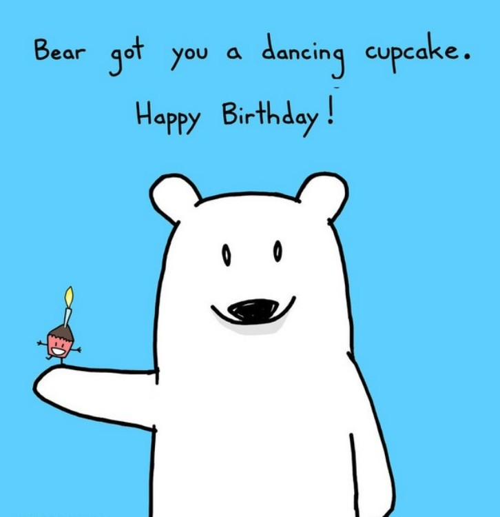 happy birthday bear meme ; Coworker-Birthday-Meme-17