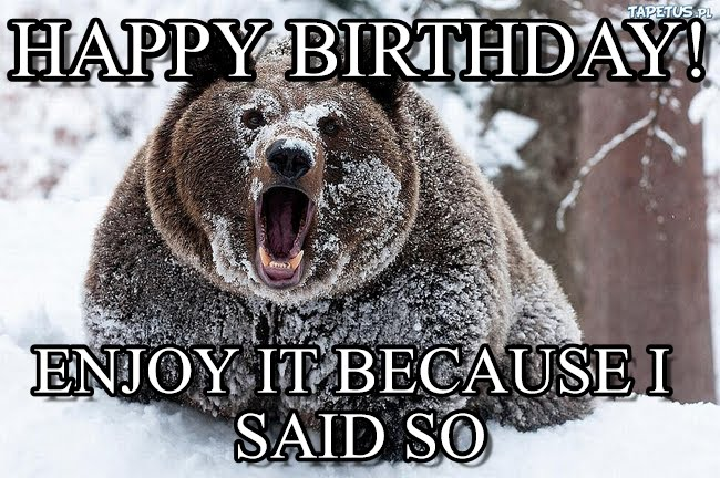 happy birthday bear meme ; v7d8f2