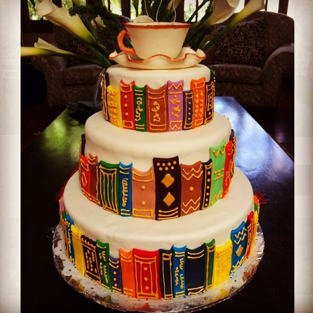 happy birthday book lover ; Book%252BLovers%252BCake
