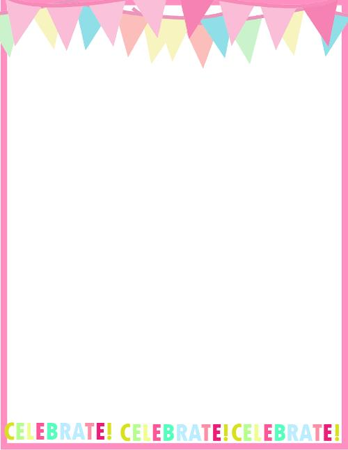 happy birthday border paper ; Fresh-designs-birthday-borders-for-invitations-and-more